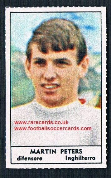 1966 Italian TIME MAG Martin Peters West Ham England packet issue